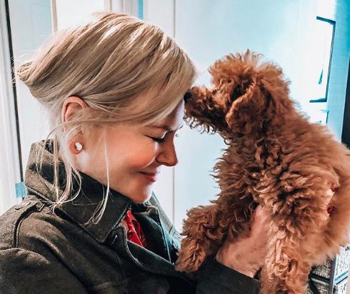 """Nicole Kidman su Instagram: """"Il mio primo cane.L'ho aspettato per tutta la vita"""""""